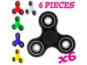 6Pcs/Lot Tri Spinner Fidget Finger Spin Stress Hand Desk Toy EDC ADHD Autism