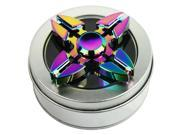 Color Rainbow Aluminum Alloy Tri Hand Finger Spinner Fidget EDC Desk Toy Gyro 04