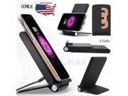3 Coils Qi Wireless Fast Charger Charging Dock Stand Holder For Samsung S7 Edge 9SIV19B76D3212