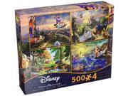 Ceaco Thomas Kinkade 4in1 Multi Pack Disney Puzzles (500 Piece) 9SIV19B76D3314