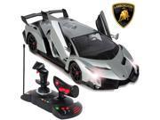1/14 Scale RC Lamborghini Veneno Gravity Sensor Radio Remote Control Car Silver 9SIV19B76G7030