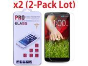 2-PACK Premium Ultra Thin HD Tempered Glass Film Screen Protector For LG G2 9SIV19B76G4498