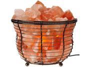 Lamp Basket with Himalayan Salt Crystals, Natural Air Purifying, Dimmer Bulb 9SIV19B76G5750