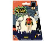"ROBIN BATMAN CLASSIC DC COMICS 3"""" ACTION FIGURE RUBBER POSABLE BENDABLE KEYCHAIN"" 9SIAA7W7CW6091"