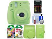 Fujifilm Instax Mini 9 Instant Film Camera Lime Green with 30 Color Prints Kit