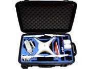 ProCraft DJI Phantom 4 Waterproof  Rolling Travel Case w/Wheels Quadcopter Drone