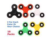 Wholesale Lot 10X Fidget Hand Tri Spinner Stress Reducer Desk Toy Finger Focus