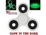 Glowing Fidget Tri Hand Spinner Desk Toy Anxiety Stress Reducer For Kids Adults