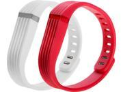 SEALED NEW WoCase Flexband Fitbit Flex Tracker ONE SIZE Red/White Wrist BAND 2pk