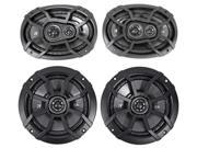 Kicker Front+Rear Factory Speaker Replacement For 2005-2012 Nissan Frontier