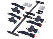 4 Retractable Golf Cart Seat Belts and Bracket Kit for EZGO Yamaha Club Car 9SIV19B7MH8641