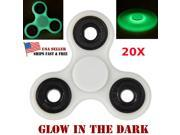 20 Packs Glowing Fidget Tri Hand Ceramic Ball Spinner Anxiety Stress Reducer Toy