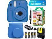 Fujifilm Instax Mini 9 Instant Camera  (Cobalt Blue) + Blue Case + 20 pk Film Ki