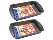 Wilton 2105-6060 Perfect Results Nonstick Oblong Cake Pan, 13 by 9 by 2-Inch Pack of 2 Pans