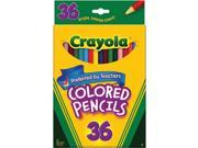 Crayola Colored Pencils Long 36 in a Pack (Pack of 3) 108 Pencils Total