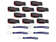 Wholesale Lot of SanDisk Cruzer Blade 4GB (10 pack) USB 2.0 Flash Drive Jump Drive Thumb Drive SDCZ50-004G-10PK w/ (5) Everything But Stromboli (TM) Lanyard