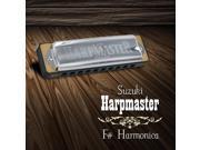 Suzuki Harpmaster 10-Hole Diatonic Harmonica with Hard Case, Key of F#