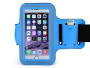 Sports Armband,MOPO Armband for iPhone 6S/6 (4.7 inch), iPhone 5S/5/5C/4/4S, Running Exercise Gym Sport band with Dual Arm-Size Slots , Water Resistant Sweat Proof + Key pocket Holder(Blue)