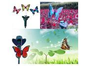 Vibration Solar Power Color Dancing Flying Fluttering Butterflies Garden Decor 9SIV0Z65DH0676
