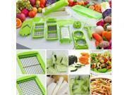 12PC Supper Slicer Plus Vegetable Fruit Peeler Dicer Cutter Chopper Nicer Grater
