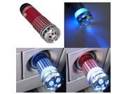 Mini Auto Car Fresh Air Purifier Oxygen Bar Ionizer Red