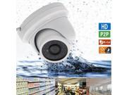 1.0MP CMOS 720P H.264 IR CUT Infrared Motion Detection Dome IP Camera White