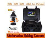 CR110-7B Waterproof Underwater Video Camera System with Light Fishing Monitoring 700TVL Built in DVR for Underwater Work Fishing Fish Finder