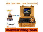 CR110-7A Underwater Camera System 7 inch Monitor 12pcs White LED Double Rod Camera with DVR for Underwater Work Fishing Fish Finder