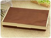 Foldable Underwear Socks Plaid Covered Storage (Brown)