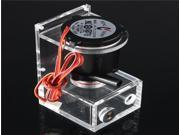 DC 12V Water Pump Tank Brushless Computer PC CPU Liquid Cooling Black