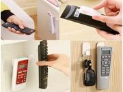 2 x Home Self Adnesive Portable TV Remote Control Key Air Conditioner Holder Storage Box Door Wall Sticky Hook 9SIAAD046B6997