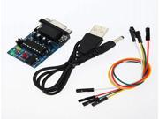 2Pcs Built-in MAX232CPE Chip RS232 TTL Converter Module With Cables