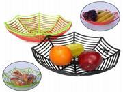 Plastic Spider Web Fruits Candy Basket Spiderweb Bowl Halloween Party Decor 9SIAAD046B0289
