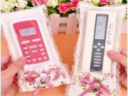 Lace Flower TV Remote Control Protective Case Cover Dustproof Bag Air Condition Holder Organizer 9SIAAD046B1159