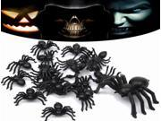 20pcs Halloween Plastic Spiders Spider Funny Joking Toy Decoration 9SIAAD046B0360