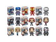 Funko Pop Marvel: Captain America Civil War Complete Set