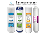 Reverse Osmosis Replacement Filter Kit 4 Total water filter cartridges inline carbon cto sediment post carbon inline 9SIAADP3WW3570