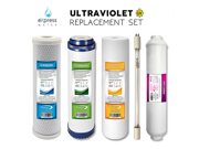 UV Replacement Bulb and RO Filter Set 5 Filters Total UV Post Carbon Inline Carbon CTO GAC Sediment 9SIAADP3X32769