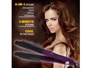 Electric Hair Straightener hair curlers LCD Hair iron Auto Hair Massager Tool  Purple