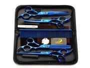 4Pcs/Set Professional Pet Hair Grooming Scissors Thinning Shear & Straight Scissors Hairdressing Shears Tool Kit Electro 9SIV0N56P44919
