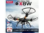 Syma X8W FPV 2.4Ghz Headless RC Qucopter Drone UVA  w/ 2MP Wifi Camera RTF - Black