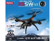 Syma X5SW Wifi FPV 2.4Ghz 4CH RC Quadcopter Drone with HD Camera RTF Black