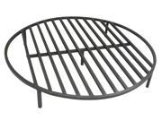 """Round Fire Pit Grate 28"""" Heavy Duty Grill Cooking Campfire Camp Ring 1/2"""" Steel"""