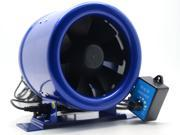 """6"""" Inline EC Duct Fan w/Speed Controller Exhaust Blower Six Inch 300CFM powerful wind store room  kitchen tunnel fans to circulate air Cooling device fan"""