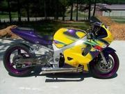 Yellow Purple Complete Injection Fairing for 2001-2003 Suzuki GSXR 600 750