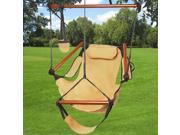 Outdoor Indoor Hammock Hanging Chair Air Deluxe Swing Chair Solid Wood 250lb