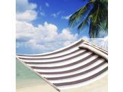 "75""x55"" Double Size Hammock Heavy Duty Wood Spreader Bar Polyester-Cotton"