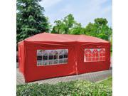 2PC Side Walls Cloth W/ Window For EZ POP UP Folding Wedding Party Tent Red