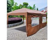 10'X20' EZ POP UP Wedding Tent Party Foldable Gazebo 4 Wall Canopy W/Carry Case Cafe