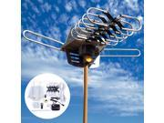 150 Mile 360 Rotor 1080P Outdoor Amplified Antenna Digital HD TV UHF/VHF